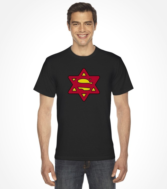 Super Jew Funny Jewish Israel Action-Hero Shirt