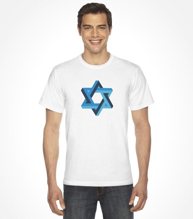 3D Star of David Shirt