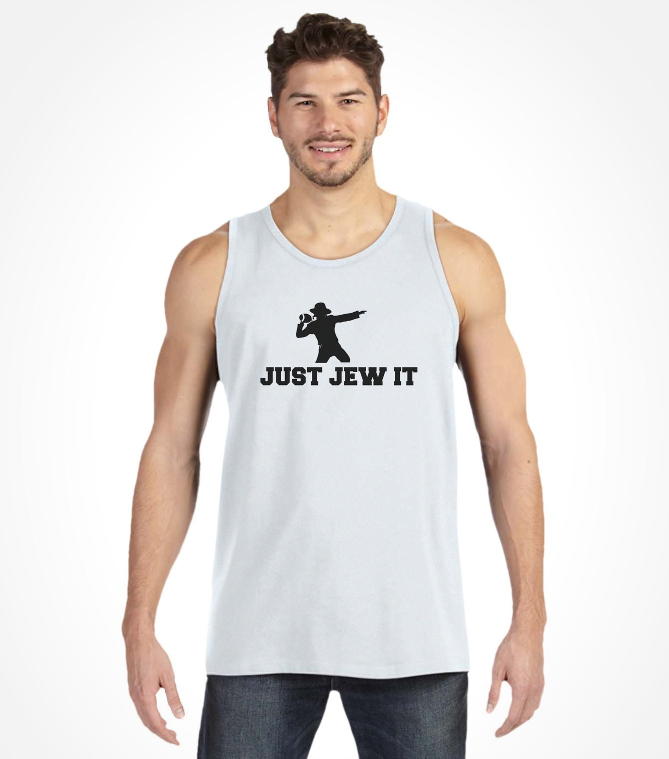 Just Jew It Funny Jewish American Football Shirt Israeli T