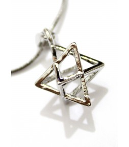 """Merkaba"" 3D Star of David Sacred Pendant Necklace"