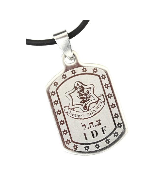 IDF Dog Tag Pendant Necklace