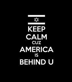 Keep Calm cuz America is Behind U Shirt