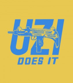 Uzi Does It - Israel Army Military Shirt
