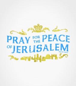 Pray for the Peace of Jerusalem Israel Shirt