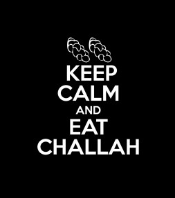 Keep Calm and Eat Challah Funny Jewish Shirt