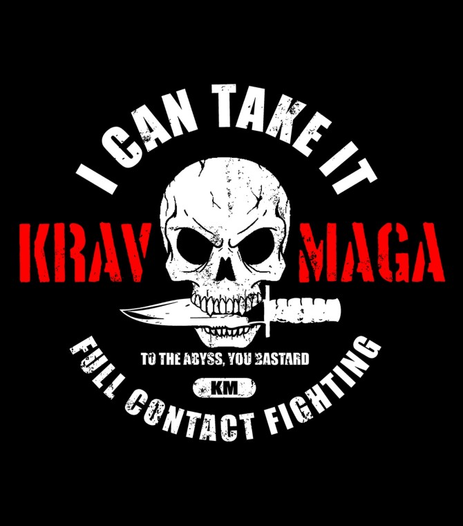 Stand Out Designs T Shirts : I can take it krav maga gear full contact fighting shirt