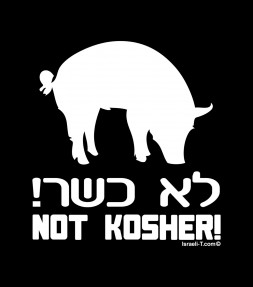 "Funny Jewish ""Not Kosher"" Israel Shirt"