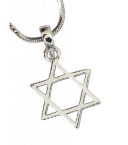 Star of David Jewish Necklace - 15mm Pendant