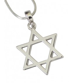Star of David Amulet Pendant Necklace - 20mm Pendant