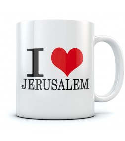 I Love Jerusalem Coffee Mug