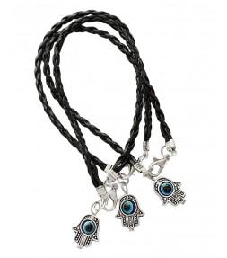 3 Black String Hamsa Kabbalah Bracelets