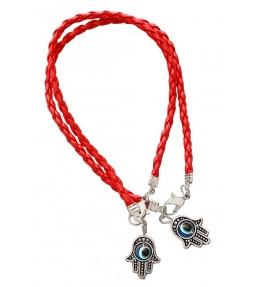 2 Red String Hamsa Kabbalah Bracelets
