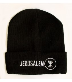 Jerusalem Menorah Stocking Hat