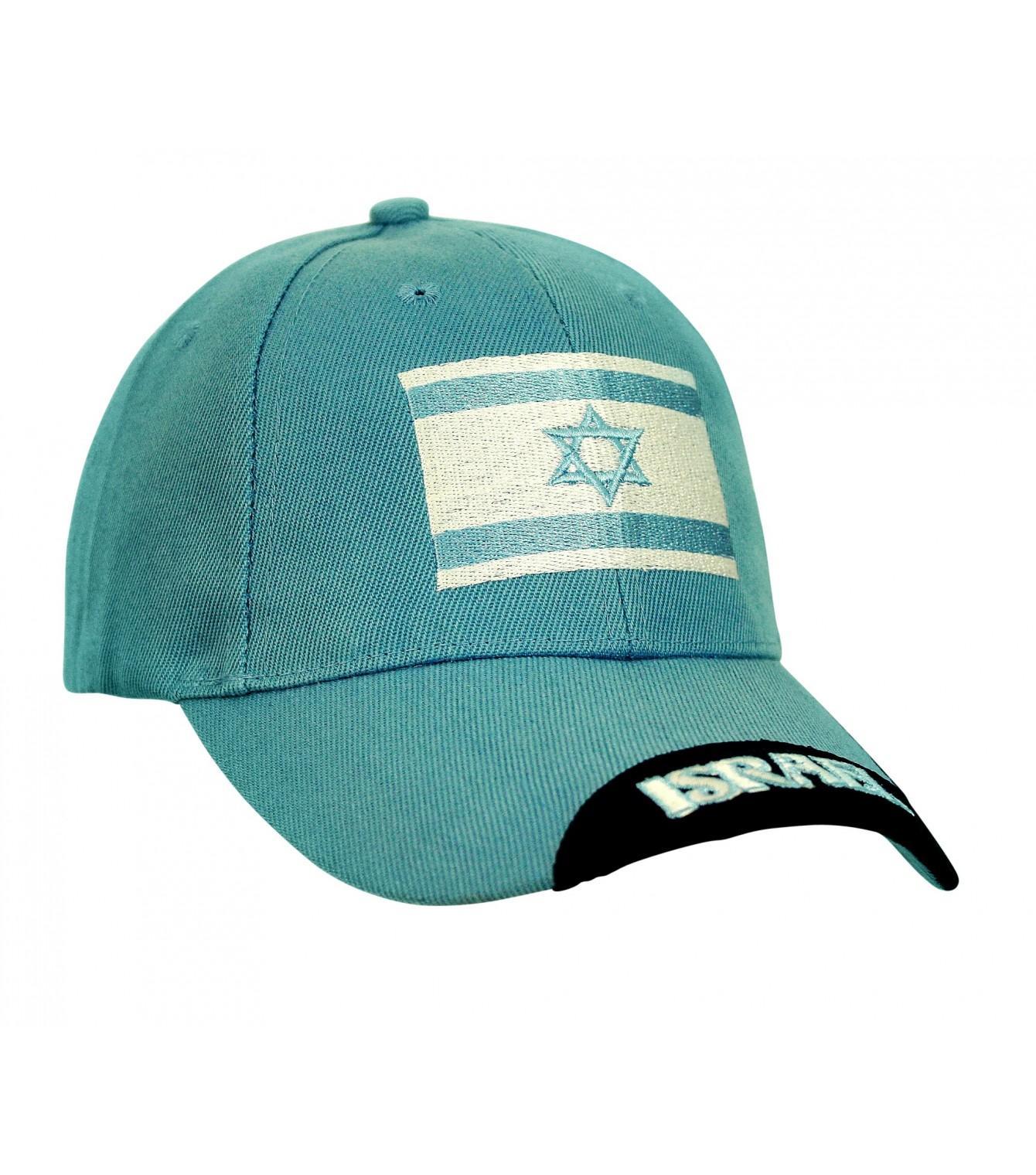 ef5cd0afa65 Israel Flag Light Blue Cap - Israeli-T