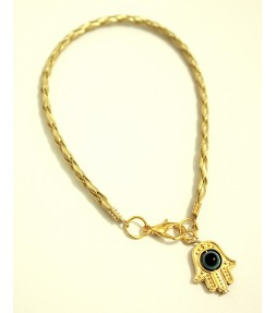 Gold String Lucky Hamsa Bracelet