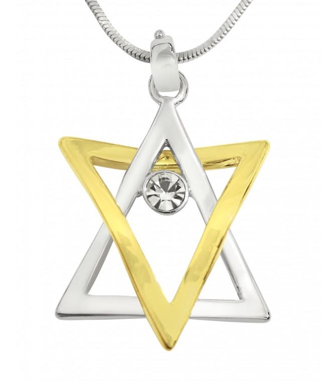 Artistic Star of David Jewish Kabbalah Pendant Necklace
