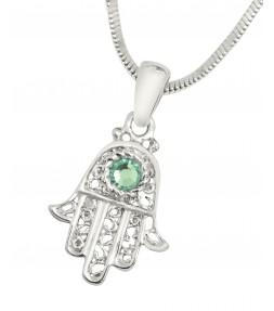 Hamsa Evil Eye Kabbalah Pendant Necklace