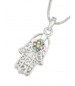 Hamsa Kabbalah Pendant Necklace