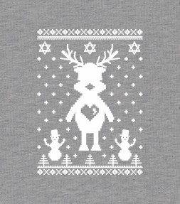 Cute Reindeer Hanukkah Chrismukkah Ugly Holiday Shirt