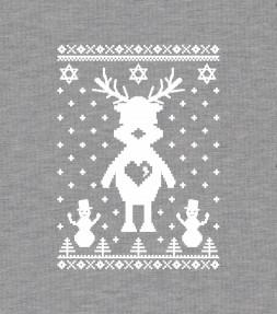 Cute Reindeer Hanukkah Chrismukkah Ugly Holiday Shirt