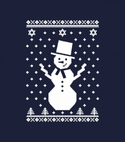 "Snowman with Star of David ""Ugly Holiday Design"" Shirt"