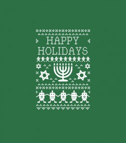 Ugly Hanukkah Sweater Design Happy Holidays Shirt