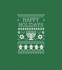 Ugly Hanukkah Sweater Design Happy Holidays Shirt
