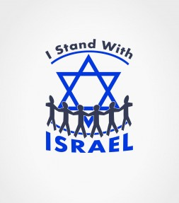 I Stand with Israel Star of David Shirt