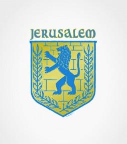 City of Jerusalem Insignia Lion of Judah Shirt