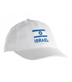 White Israel Flag Cap