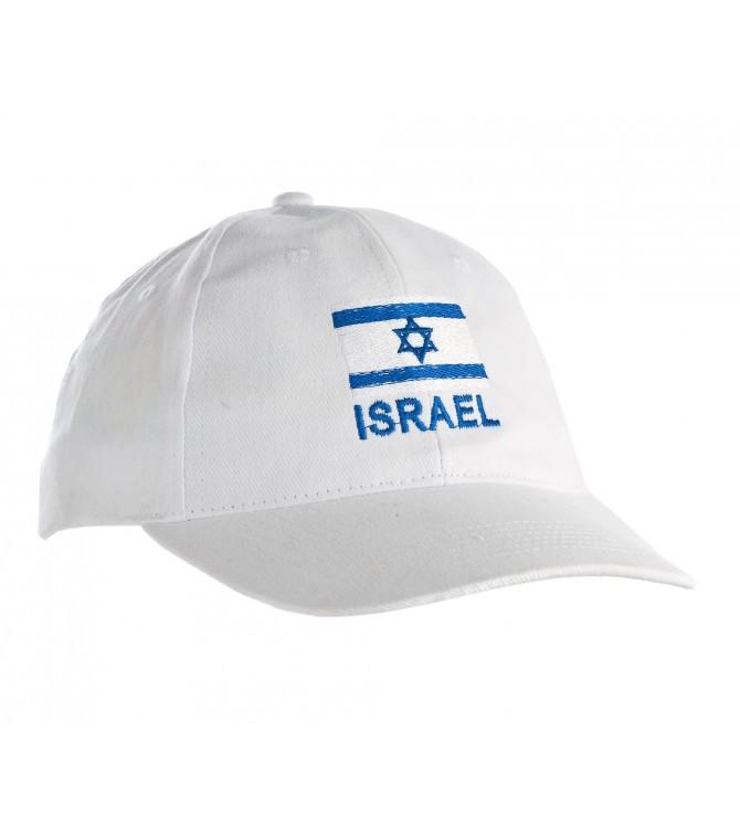 White Israel Flag Cap
