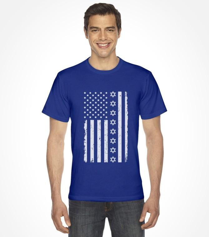 Jewish American U.S.A. Flag Shirt