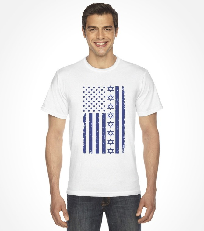 Jewish U.S.A. and Israel Flag Shirt