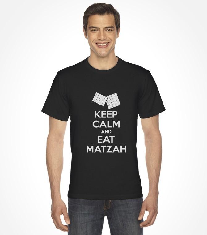 Keep Calm and Eat Matzah Funny Jewish Passover Shirt