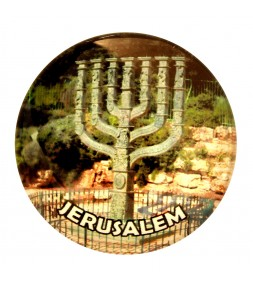 Jewish Menorah Jerusalem Magnet