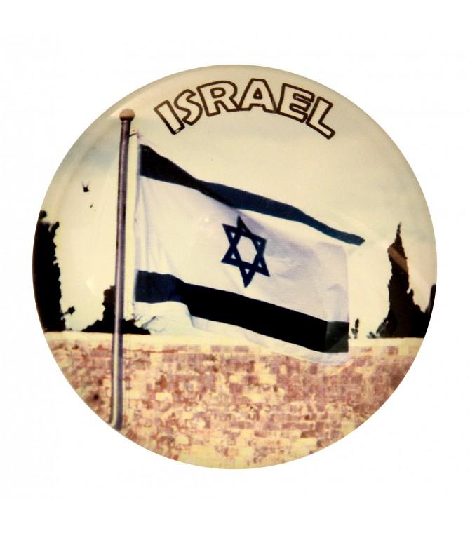 Israel Flag Western Wall Magnet