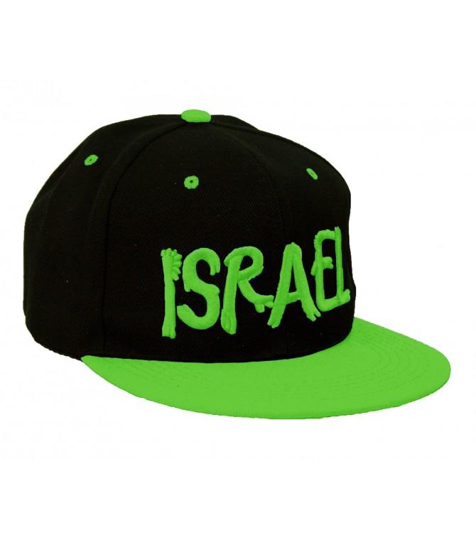 Israel Neon Green Snapback Rappers Cap