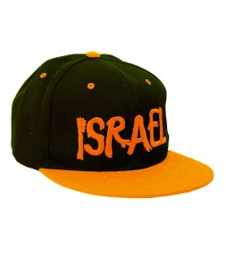 Israel Neon Orange Snapback Rappers Cap