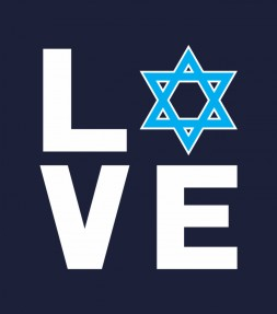 I Love Israel - Jewish Star of David Support Israel
