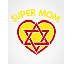 Super Mom Star of David Jewish Super Hero Shirt