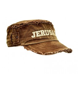 Jerusalem Distressed Brown Vintage Cap