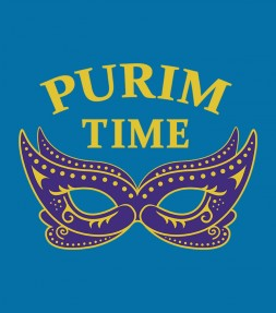Purim Time - Party Mask