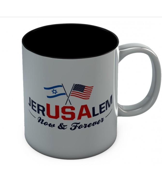 Jerusalem Now & Forever Trump Jerusalem Declaration Mug