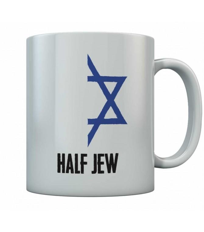 Funny Half Jew With Half Jewish Star Mug