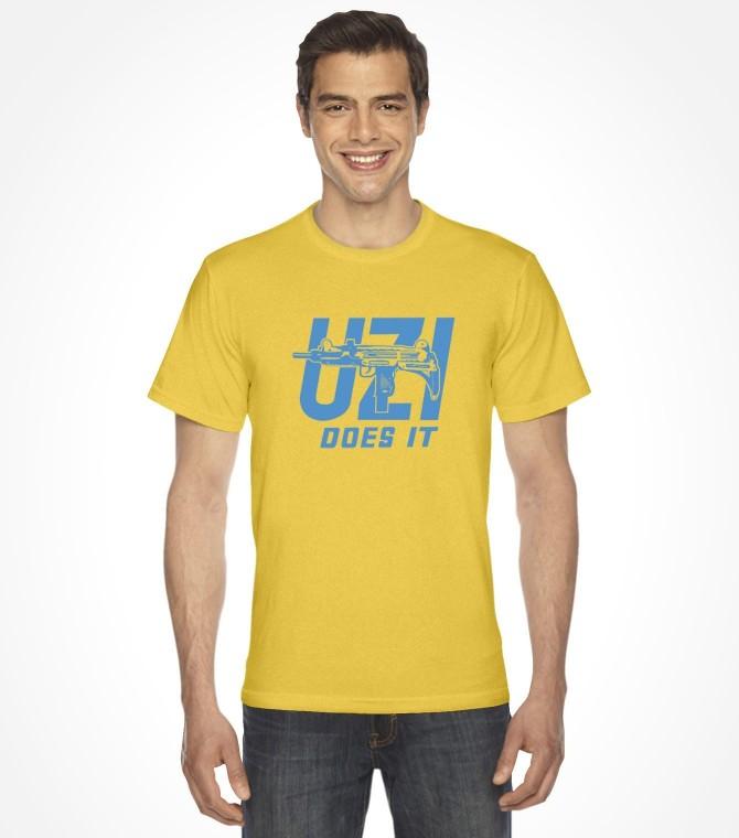 Uzi Does It - Israel Army Military Shirt